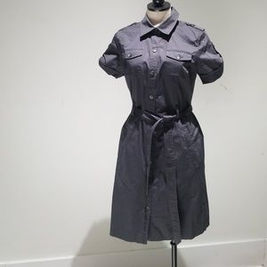 Calvin Klein gray button up shirt dress sz.8